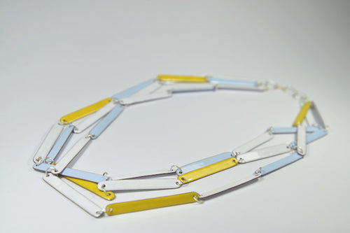 Steffi Necklace 3 White/Blue/Yellow