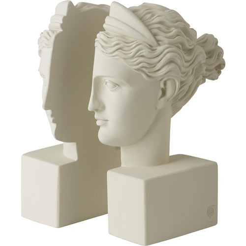 Artemis Bookends, White