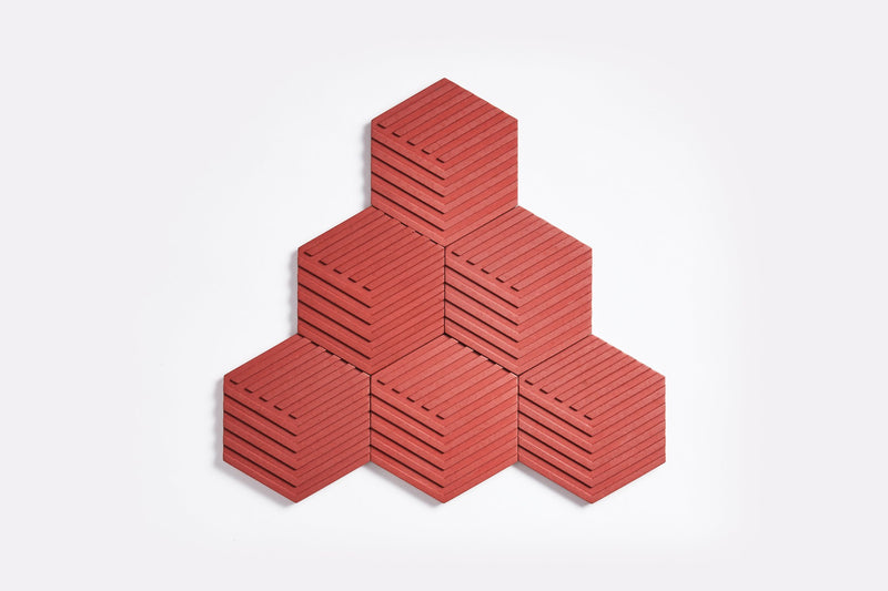 Table Tiles Concrete Red