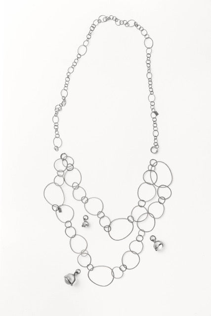 Very Thin Globus Combo Crystals Necklace