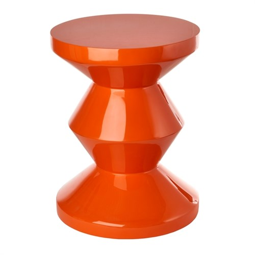 Zig Zag Orange Stool