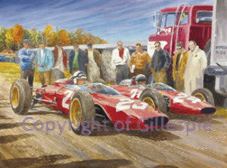 Surtees and Bandini Ferrari