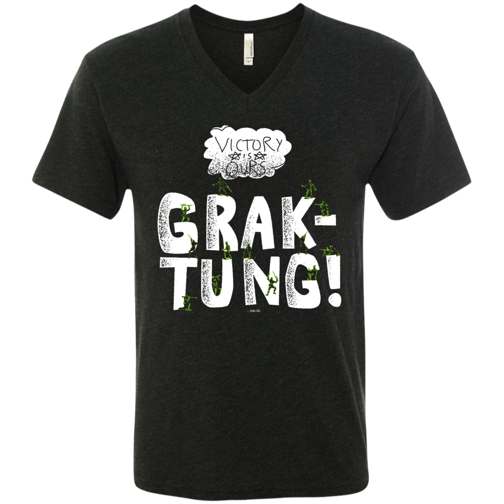 Grak-Tung - Men's Next Level Triblend V-Neck Tee