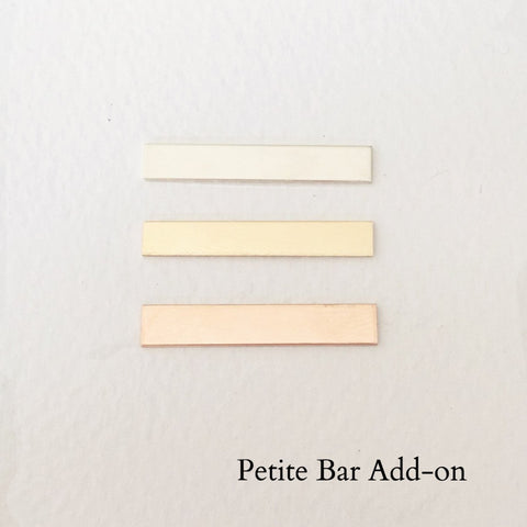 Add a Petite Bar - 30mm x 5mm