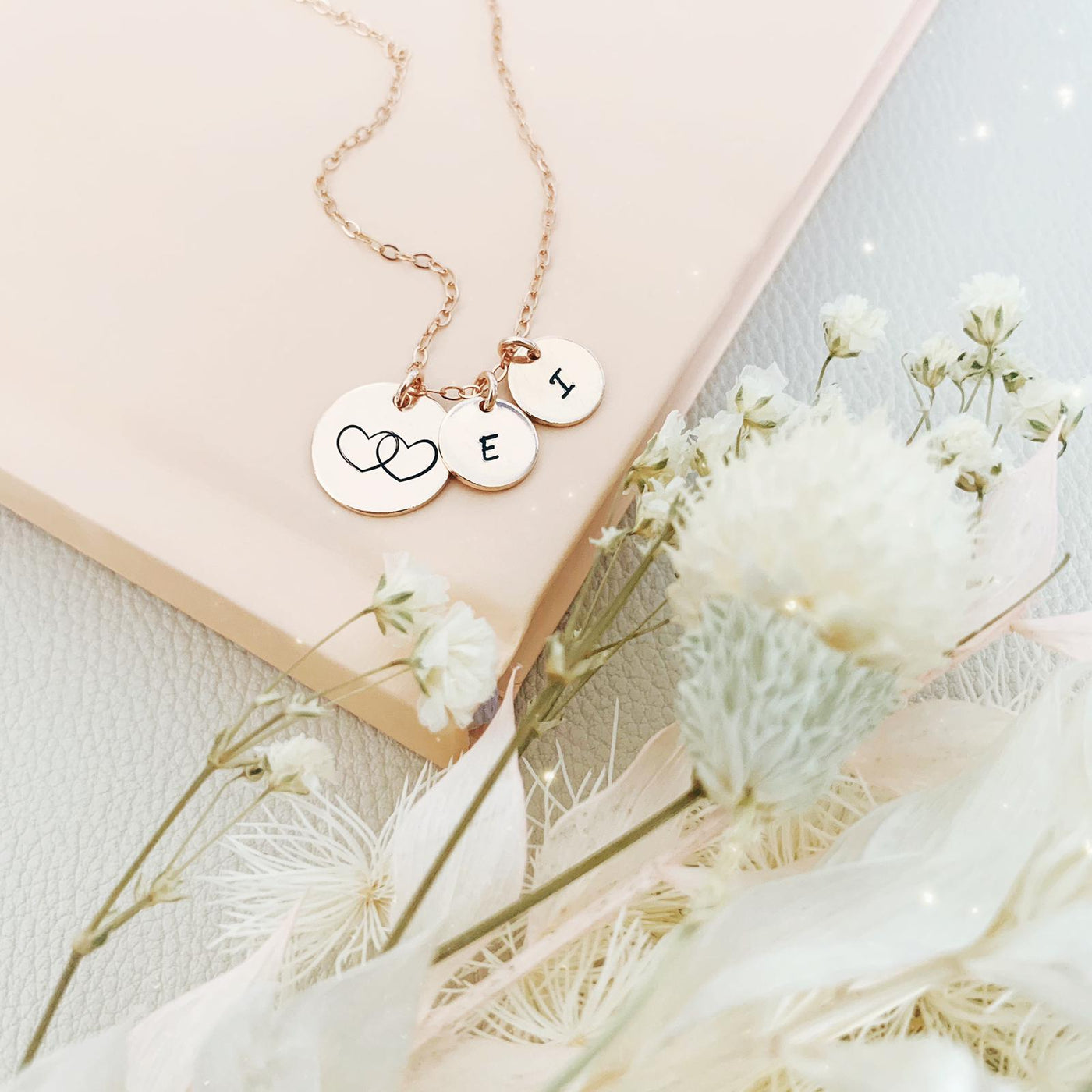 2 Hearts as 1 Necklace - Midi & Mini Discs