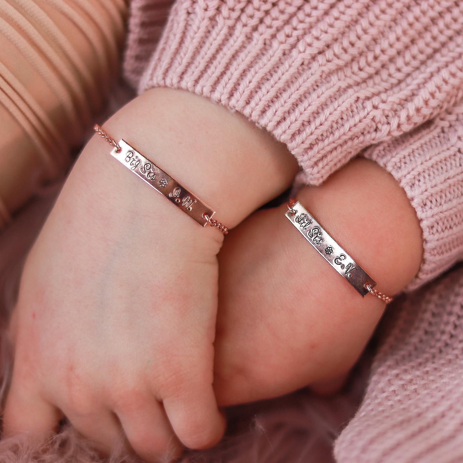 Big & Lil Sis Matching Bracelets - Petite Bar