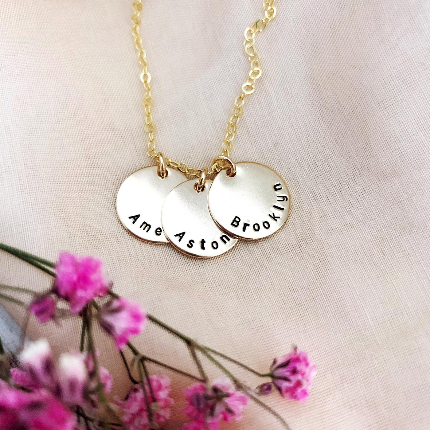 Triple Midi Discs Necklace