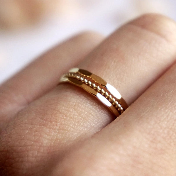 Grace - Hammered & Twist Rings