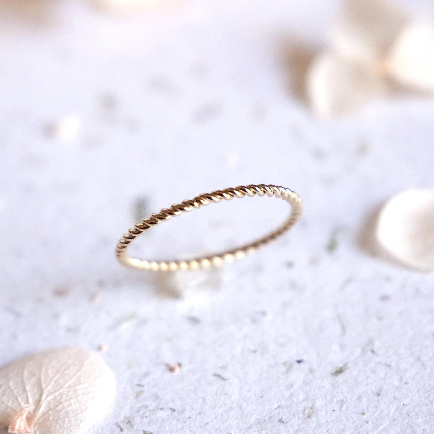 Dainty Twist Stacking Ring