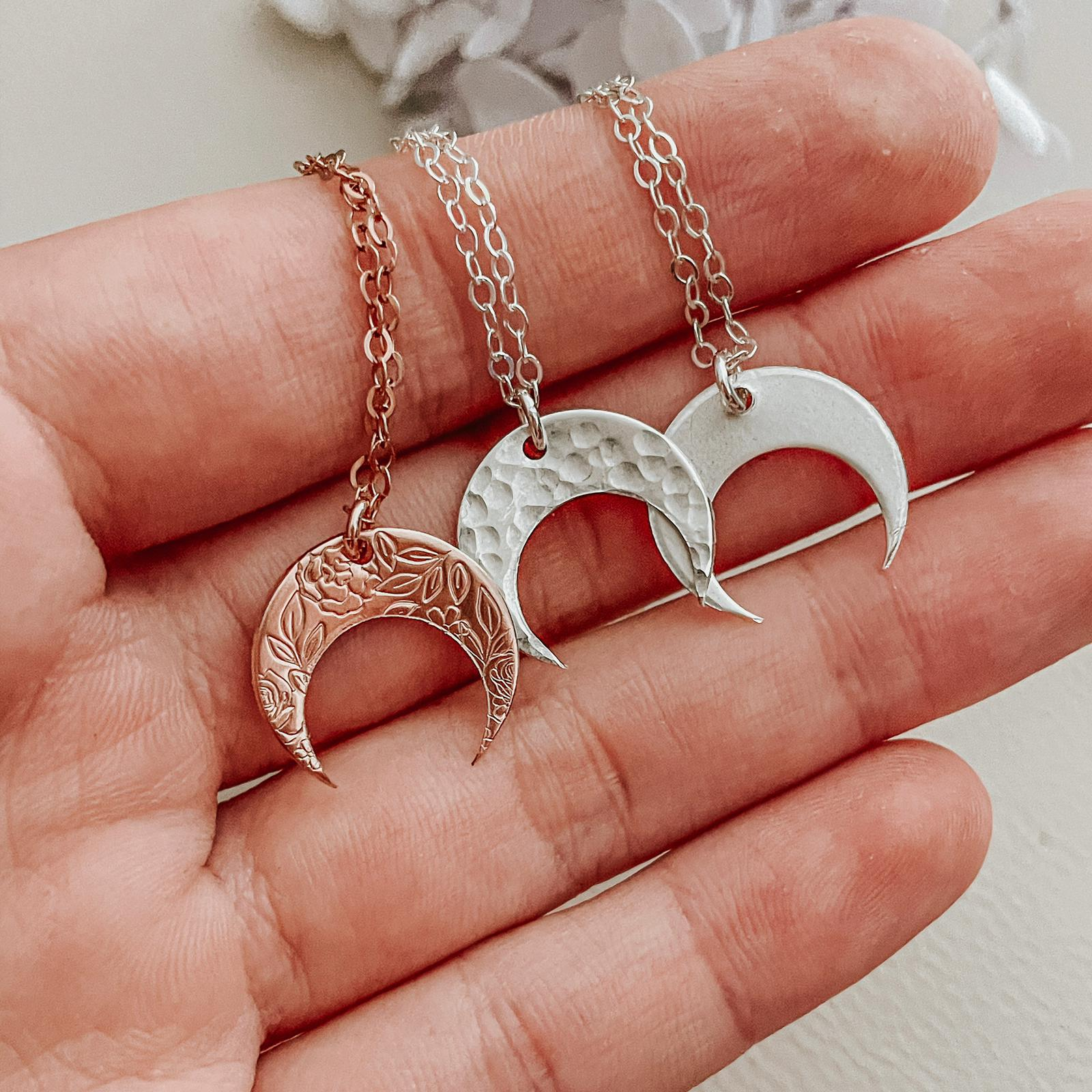 The Moonshine Necklace - Crescent Pendant