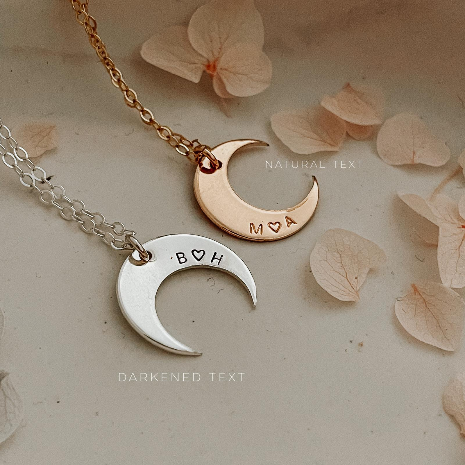 The Moonshine Necklace - Personalised - Crescent Pendant
