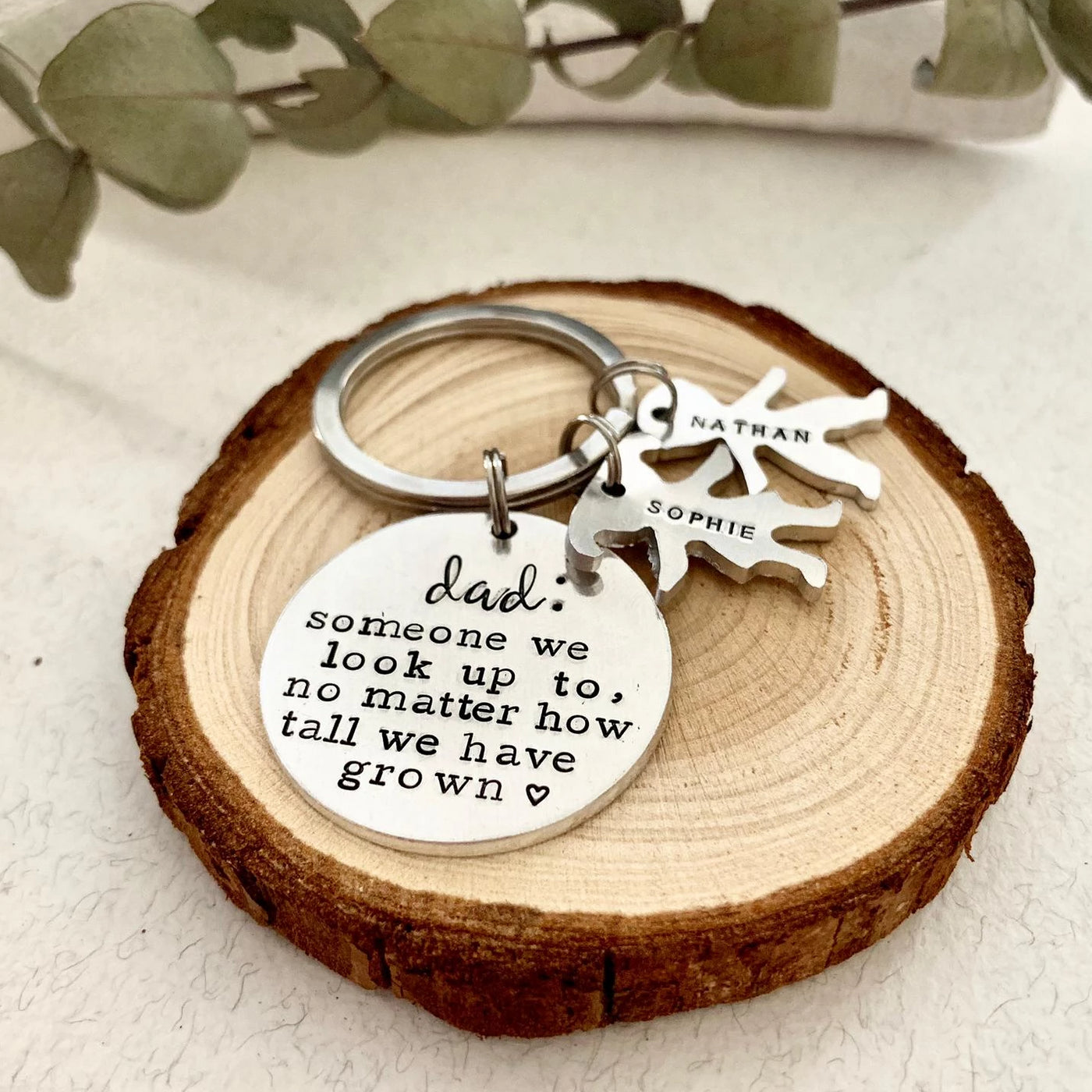 Dad Definition - Little People & Disc Keyring - Ekalake Handmade Jewellery