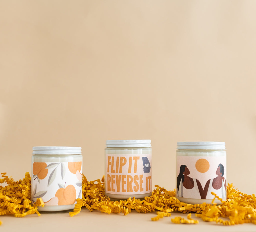 Gifts that give back - a set of candles benefitting The New Georgia Project