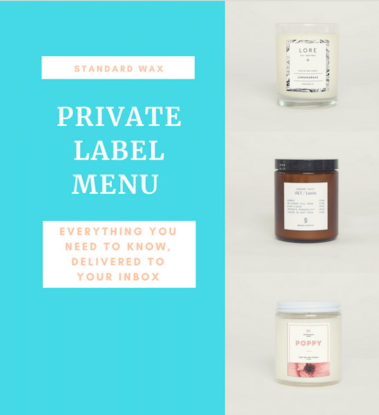 custom candles and private label candles