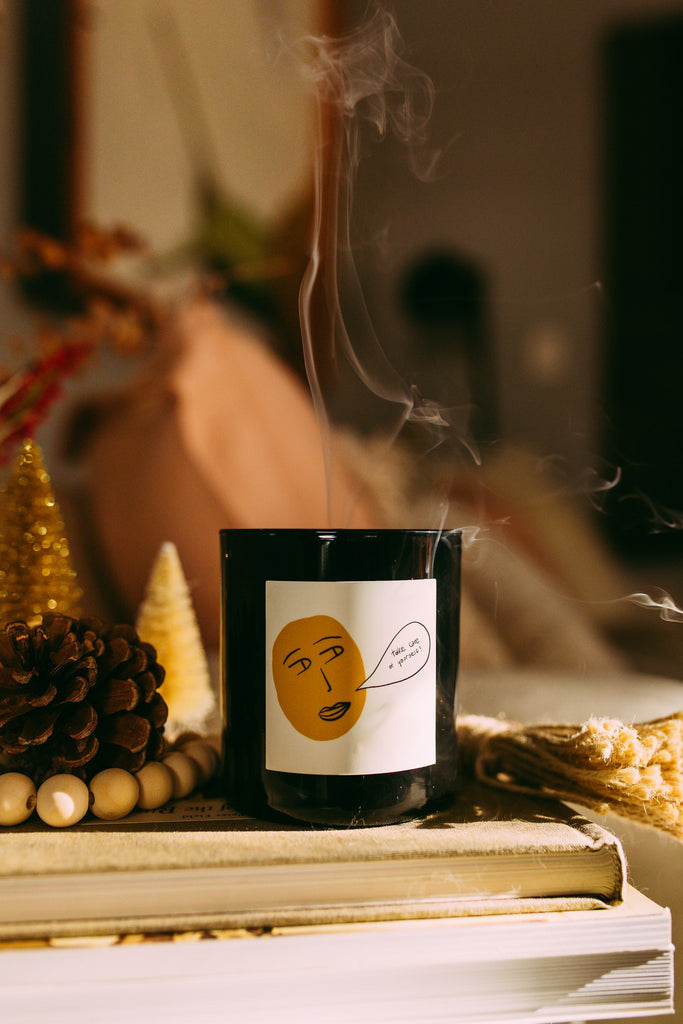 standard wax take care of yourself candle