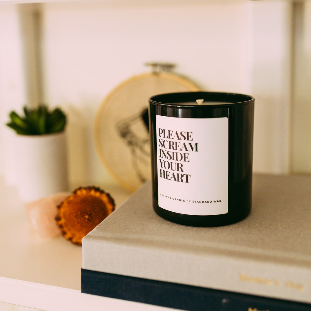 Please Scream Inside Your Heart Candle - Funny 2020 Gift Ideas