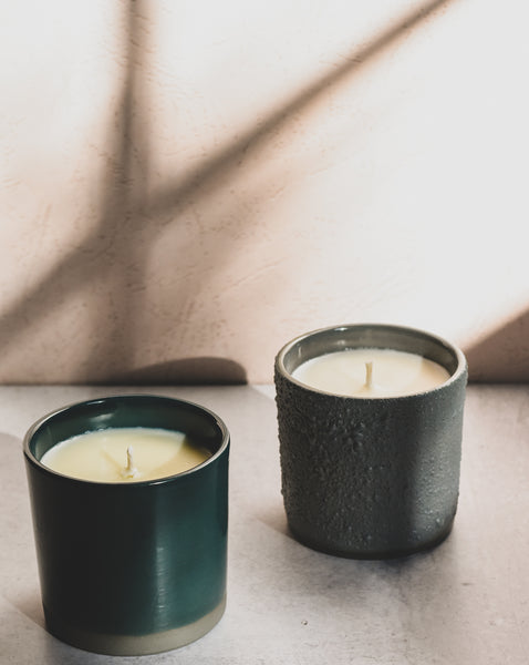 standard wax custom candles artist collaboration with andrew molleur