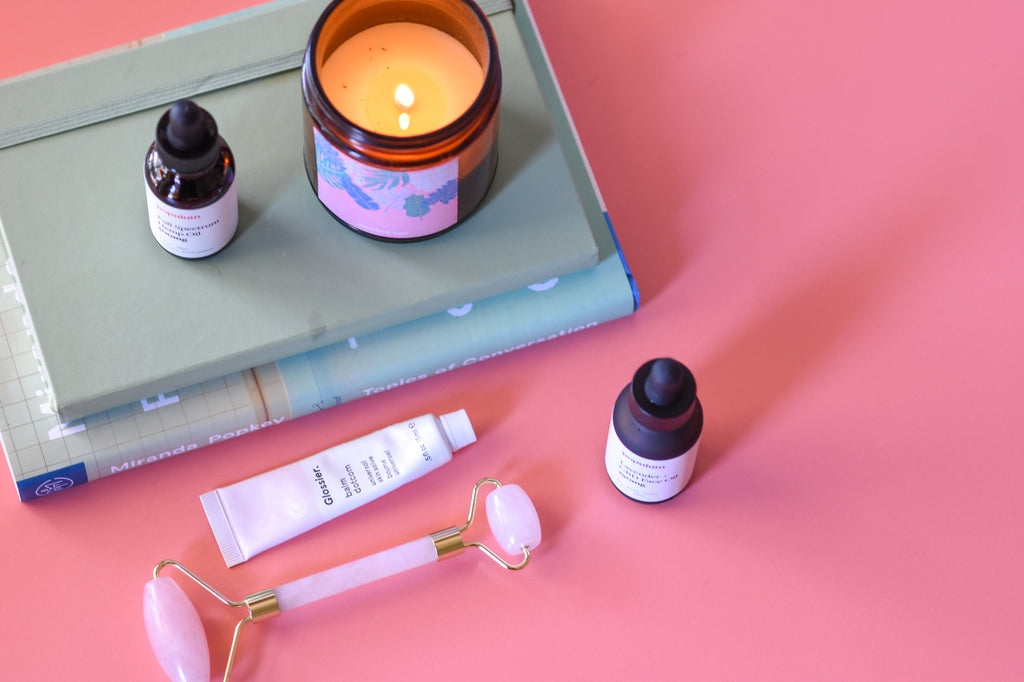 cbd and candle inspired relaxation routine