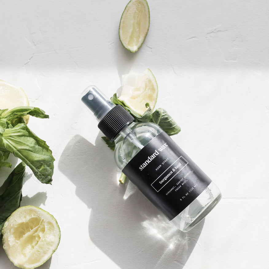 standard wax bergamot and basil room spray
