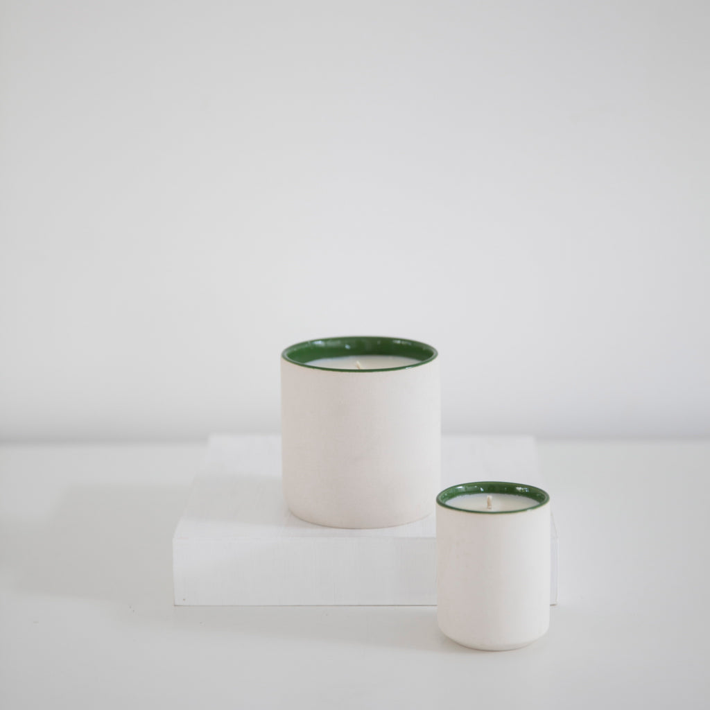 standard wax candles green thumb