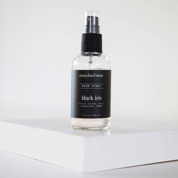 standard wax black iris room spray