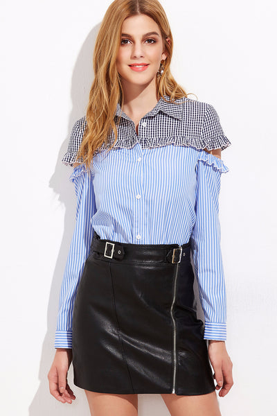 Fabiana Ruffled Gingham Top