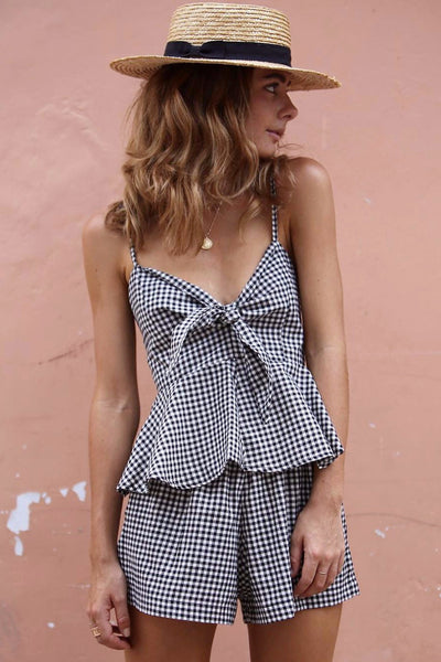 Colette Two-Piece Gingham Set