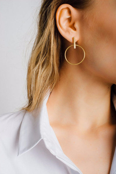 Peli Hanging Hoop Earrings