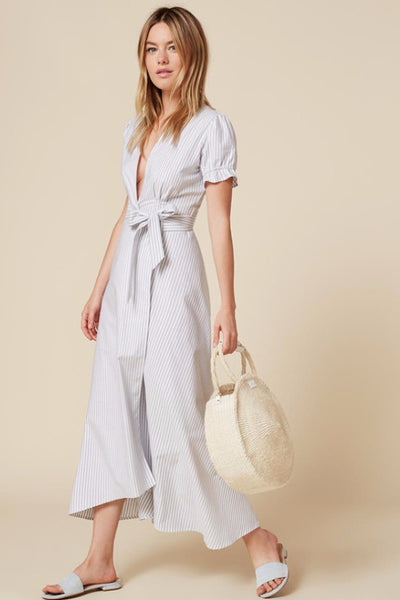 Dress - Clara Short Sleeve Wrap Midi Dress