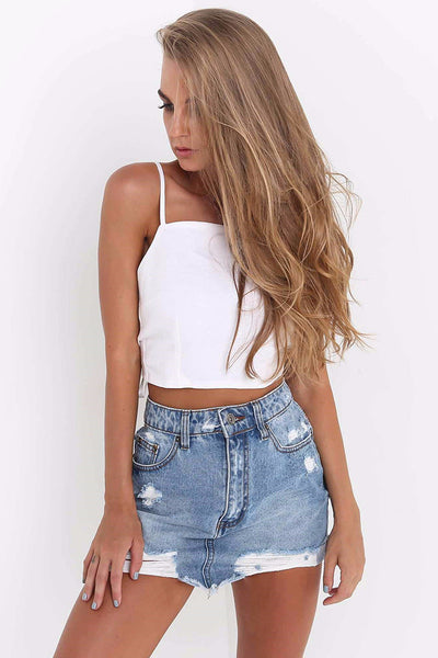 Tina Bow Tie Cropped Tank Top