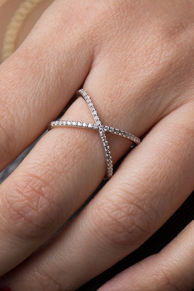 Crisscross Pavé Ring