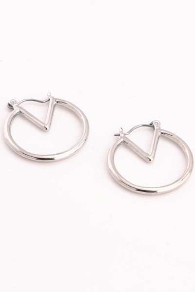 V-Ring Hoop Earrings