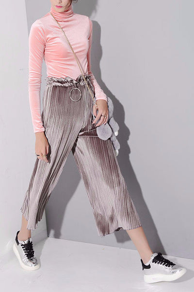 Pant - Lola High Waisted Cropped Wide Leg Flare Pant