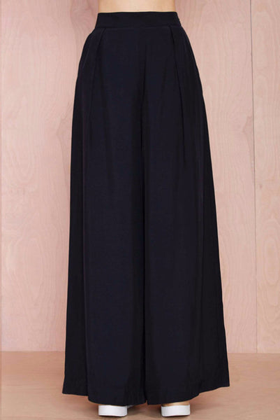 Pant - Marlie Wide Leg Black Pants