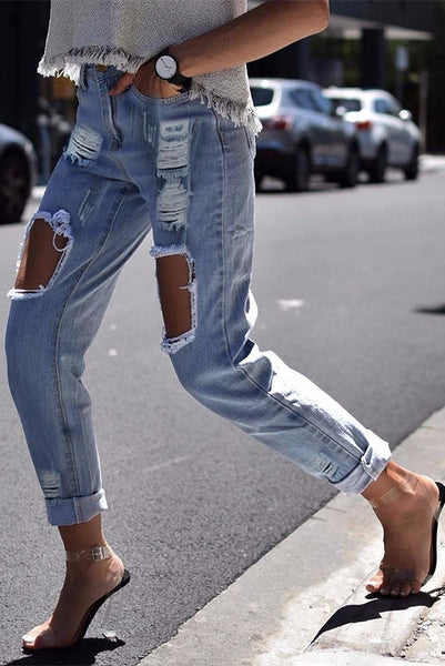 Kourtney Distressed Boyfriend Jeans