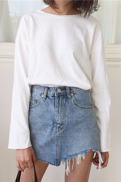 Skirt - Sandra Washed Denim Skirt