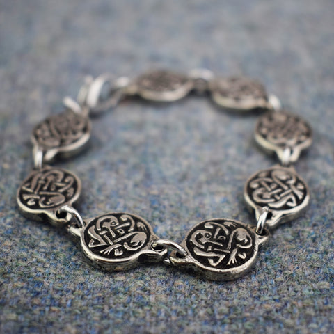 VIKING SEGMENTED KNOTWORK DISC BRACELET