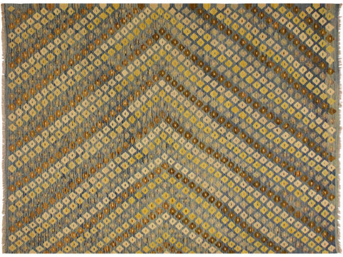 "A10052, 6' 1"" X  7' 9"",Geometric                     ,6' x 8',Blue,BROWN,Hand-woven                    ,Pakistan   ,100% Wool  ,Rectangle  ,652671187926"