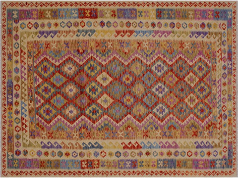 "A10097, 6' 5"" X 10' 1"",Geometric                     ,7' x 10',Natural,BROWN,Hand-woven                    ,Pakistan   ,100% Wool  ,Rectangle  ,652671188374"