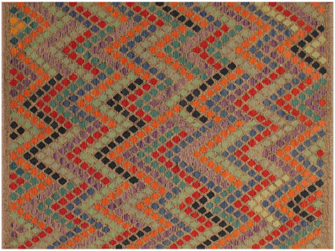 "A10204, 5' 9"" X  7'11"",Geometric                     ,6' x 8',Grey,BLUE,Hand-woven                    ,Pakistan   ,100% Wool  ,Rectangle  ,652671189425"