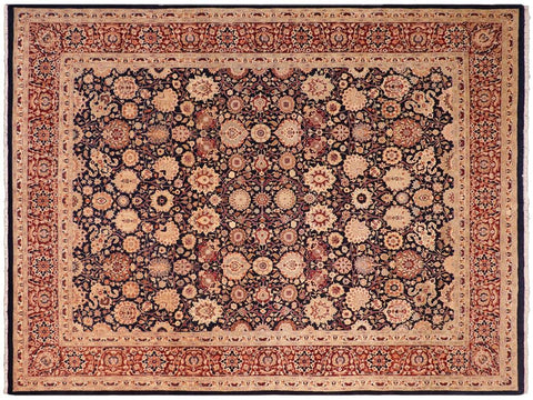 handmade Traditional Tabriz Blue Red Hand Knotted RECTANGLE 100% WOOL area rug 8x10 Hand knotted indoor Pak Persian vegetable dyed area rug made for all rooms with high quality New Zealand wool in rich color pallet weaved by skilled artisans in traditional transitional design known for quality and affordable price. Oriental rug offered at cheap discount for any decor, with Persian weave(KPSI upto 300)