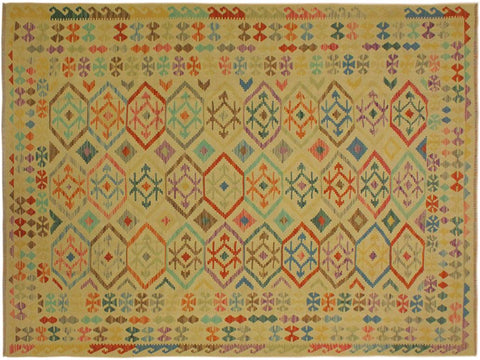 "A10261, 6'10"" X  9' 7"",Geometric                     ,7' x 10',Tan,BLUE,Hand-woven                    ,Pakistan   ,100% Wool  ,Rectangle  ,652671189999"
