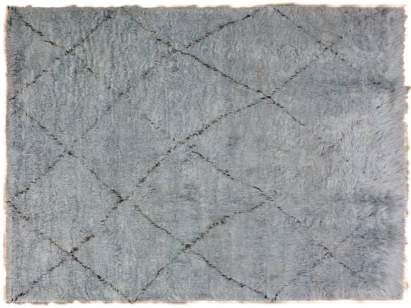 "A10287, 6' 7"" X  9' 1"",Modern                        ,8' x 10',Grey,BLACK,Hand-knotted                  ,Pakistan   ,100% Wool  ,Rectangle  ,652671190247"