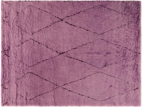"A10289, 7'10"" X 10'10"",Modern                        ,8' x 11',Purple,BLACK,Hand-knotted                  ,Pakistan   ,100% Wool  ,Rectangle  ,652671190261"
