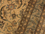 "A01028, 8' 1"" X  9'11"",Traditional                   ,8' x 10',Tan,LT. GREEN,Hand-knotted                  ,Pakistan   ,100% Wool  ,Rectangle  ,652671131363"