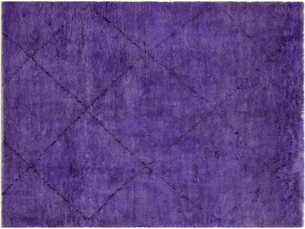 "A10292, 6' 5"" X 10' 1"",Modern                        ,6' x 9',Purple,BLACK,Hand-knotted                  ,Pakistan   ,100% Wool  ,Rectangle  ,652671190292"