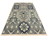 "A10361, 4' 1"" X  6' 6"",Modern                        ,4' x 6',Grey,IVORY,Hand-knotted                  ,Pakistan   ,Wool&viscou,Rectangle  ,652671190940"