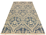"A10363, 4' 0"" X  6' 0"",Modern                        ,4' x 6',Blue,IVORY,Hand-knotted                  ,Pakistan   ,Wool&viscou,Rectangle  ,652671190964"