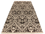 "A10450, 4' 3"" X  6' 2"",Modern                        ,4' x 6',Grey,IVORY,Hand-knotted                  ,Pakistan   ,Wool&viscou,Rectangle  ,652671191824"