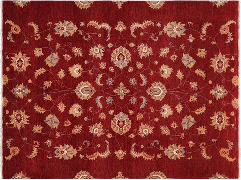 "A10462, 8' 0"" X  9'10"",Traditional                   ,8' x 10',Red,BLUE,Hand-knotted                  ,Pakistan   ,100% Wool  ,Rectangle  ,652671191947"